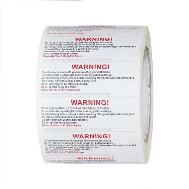 Warning Labels 1 000 Pcs Bulk Wholesale Dispensary