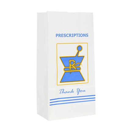 Extra Large Kraft Rx Prescription Bags For Herbs 1000 Pieces