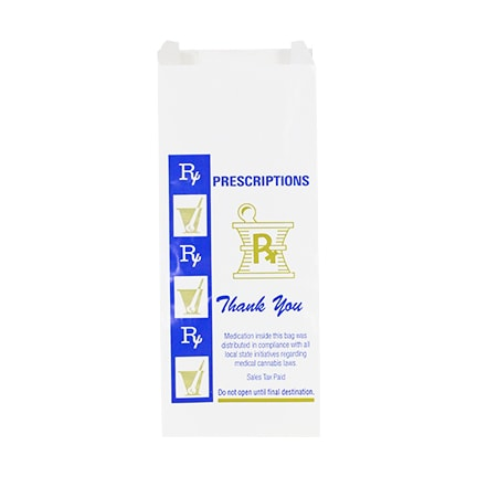 Medium Glossy Rx Prescription Bags Bulk Wholesale