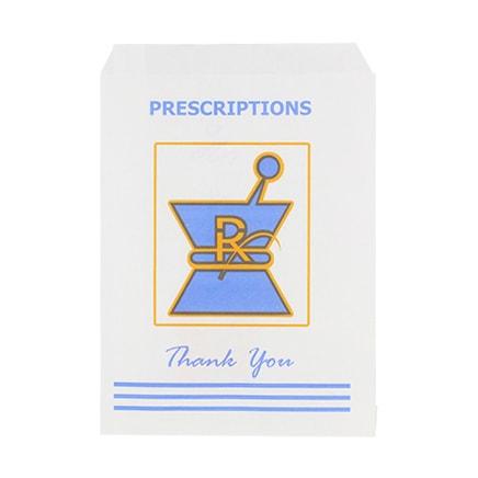 Large Kraft Rx Prescription Bags Zoom Images
