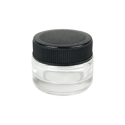 5ml Black Cap Glass Concentrate container for extracts