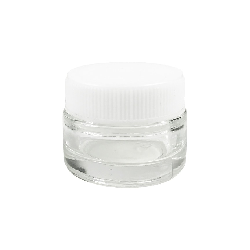 5ml White Cap Glass Concentrate Containers 528qty Bulk