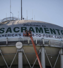 Sacramento Changes Water Tower Slogan