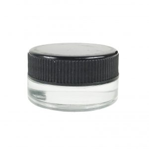 wide mouth 7 ml glass concnetrate container for sauce