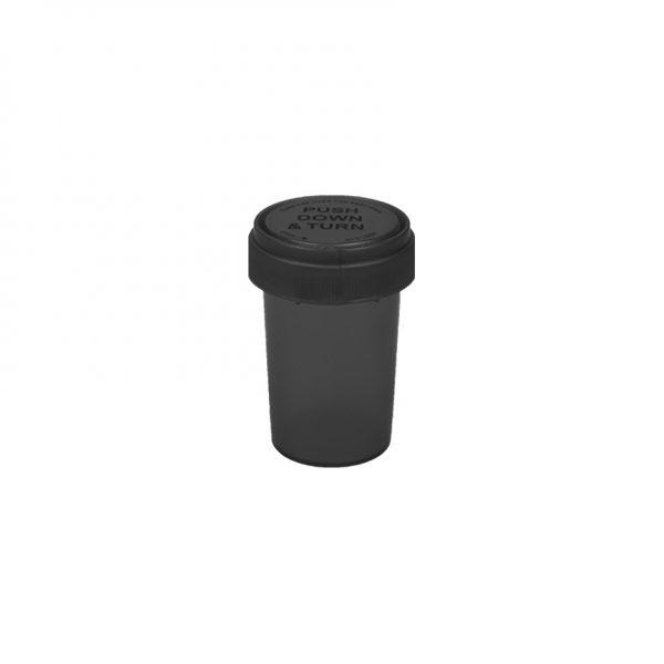 20 dram opaque black reversible cap vial