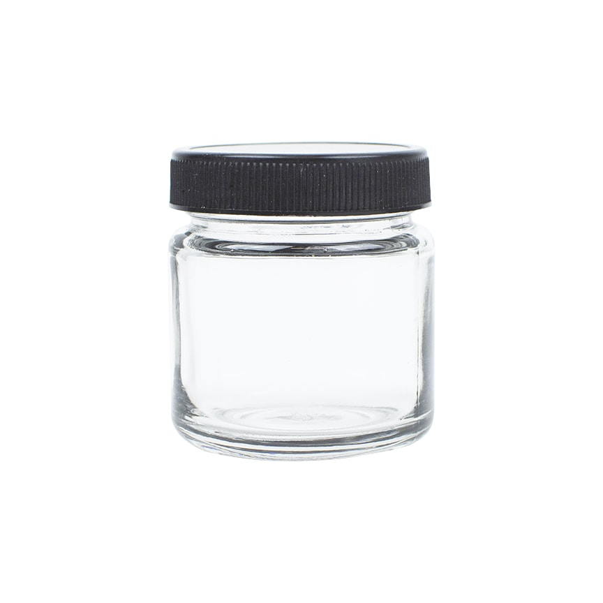 4oz Glass Jars With Black Twist Top Lid 96 Pcs Bulk