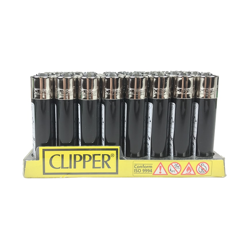 Black Clipper Lighters – 48 Qty