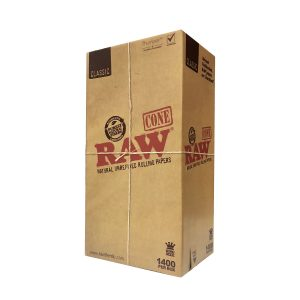 Bulk Raw 109mm Cone - Natural Unrefined Rolling Papers - 1400 Count
